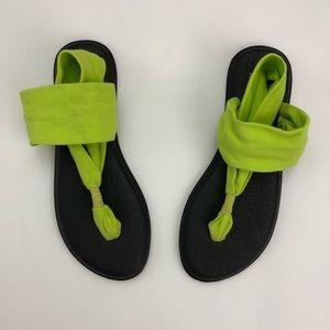 Sanuk Yoga Slingback Sandals Size 9
